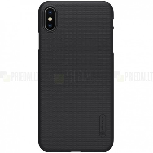 Apple iPhone Xs Max Nillkin Frosted Shield melns plastmasas apvalks