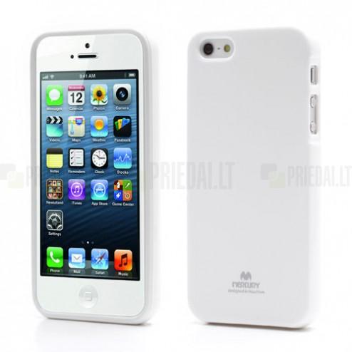Apple iPhone 5, 5S Mercury Color balts cieta silikona (TPU) futrālis