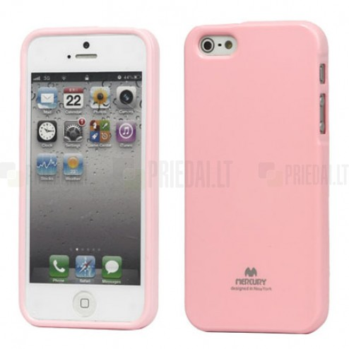 Apple iPhone 5, 5S Mercury Color rozs cieta silikona (TPU) futrālis