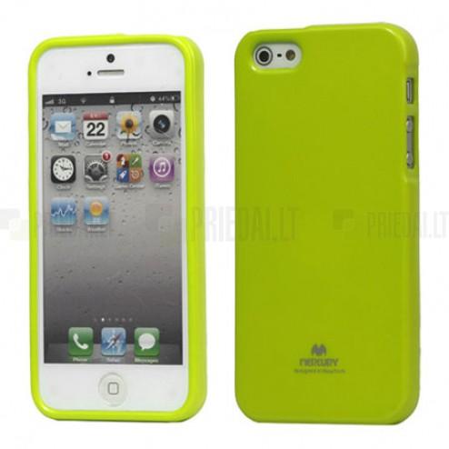 Apple iPhone 5, 5S Mercury Color zaļš cieta silikona (TPU) futrālis