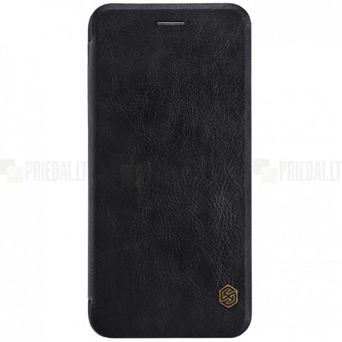 """Greznais """"Nillkin"""" Qin sērijas ādas atvērams melns Apple iPhone 7 Plus (iPhone 8 Plus) maciņš"""