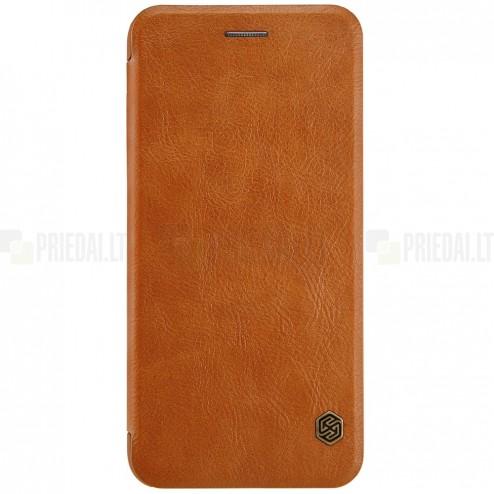 """Greznais """"Nillkin"""" Qin sērijas ādas atvērams brūns Apple iPhone 7 Plus (iPhone 8 Plus) maciņš"""