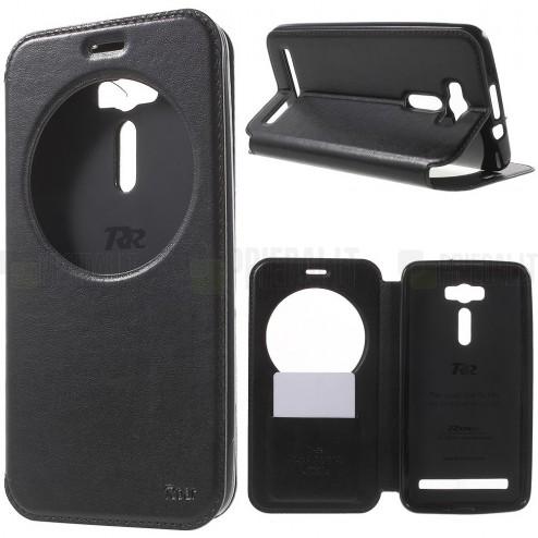 Asus Zenfone 2 Laser 6.0 (ZE600KL, ZE601KL) Roar Noble ādas atvēramais melns maciņš