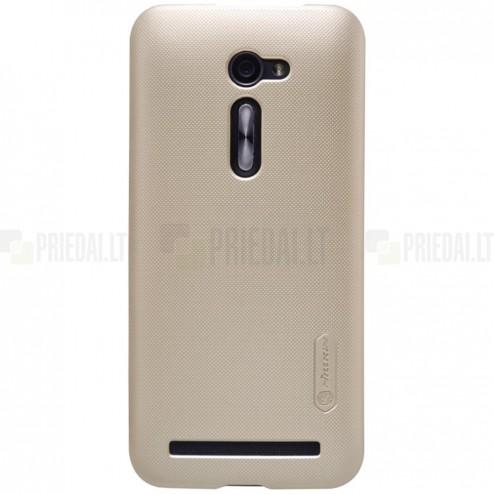 Asus Zenfone 2 5.0 (ZE500CL) Nillkin Frosted Shield zelta plastmasas apvalks + ekrāna aizsargplēve