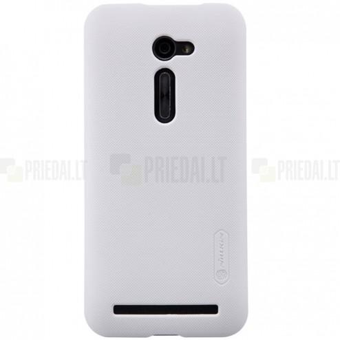 Asus Zenfone 2 5.0 (ZE500CL) Nillkin Frosted Shield balts plastmasas apvalks + ekrāna aizsargplēve
