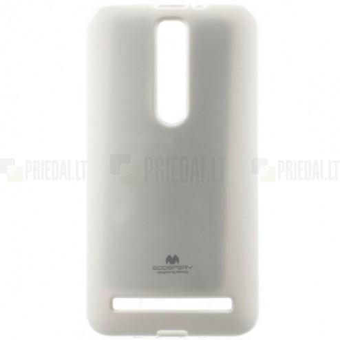 Asus Zenfone 2 5.5 (ZE550ML, ZE551ML) Mercury balts cieta silikona (TPU) futrālis
