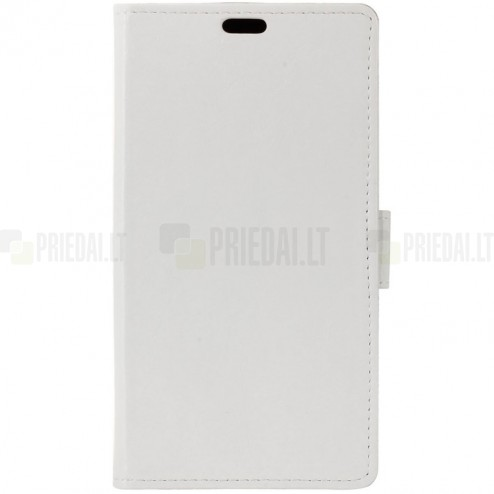 Asus Zenfone 3 Max (ZC520TL) atvēramais ādas balts maciņš (maks)