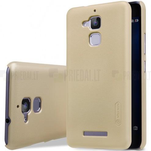 Asus Zenfone 3 Max (ZC520TL) Nillkin Frosted Shield zelta plastmasas apvalks + ekrāna aizsargplēve