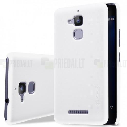 Asus Zenfone 3 Max (ZC520TL) Nillkin Frosted Shield balts plastmasas apvalks + ekrāna aizsargplēve