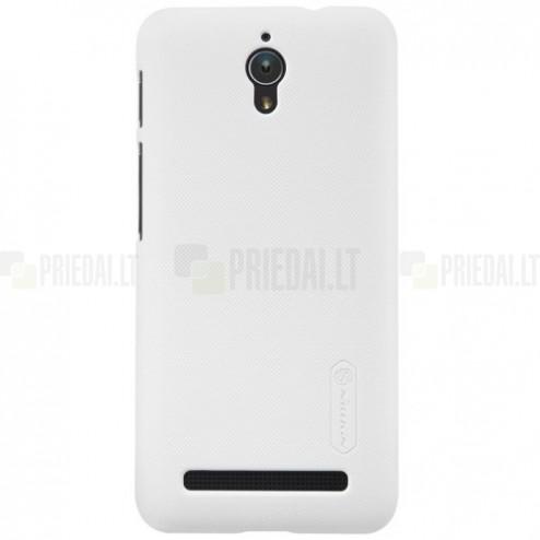 Asus Zenfone C 4.5 (ZC451CG) Nillkin Frosted Shield balts plastmasas apvalks + ekrāna aizsargplēve