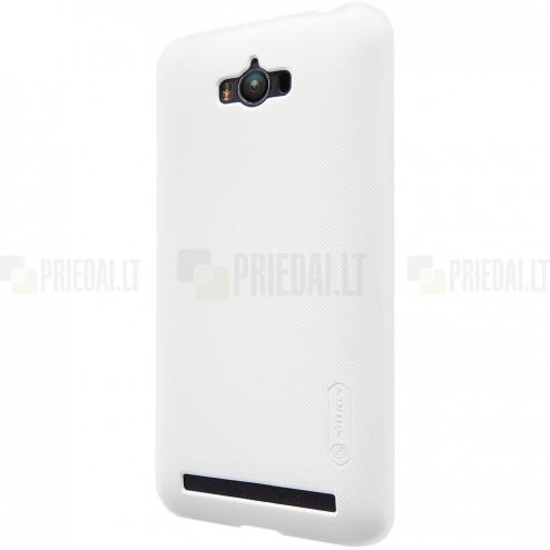 Asus Zenfone Max (ZC550KL) Nillkin Frosted Shield balts plastmasas apvalks + ekrāna aizsargplēve