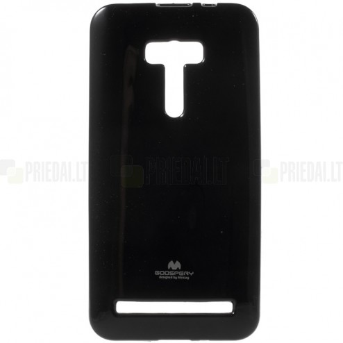 Asus Zenfone Selfie (ZD551KL) Mercury melns cieta silikona (TPU) futrālis