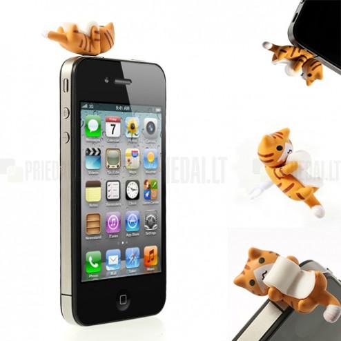Austiņu ligzdas kontaktdakšiņa - spēlējošs kaķītis