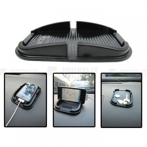 Melns Anti-Slip Pad paklājiņš, autoturētājs (S lielums)