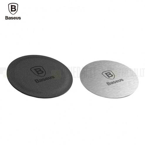 """""""Baseus"""" Magnet Iron uzlīmes komplekts (uz magnētiskais auto turētājs) - melns / sudrabs"""