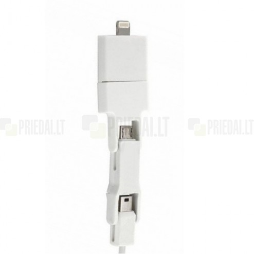 """Bottari"" balts vads (micro USB, nini USB, 30-pin un Lightning)"