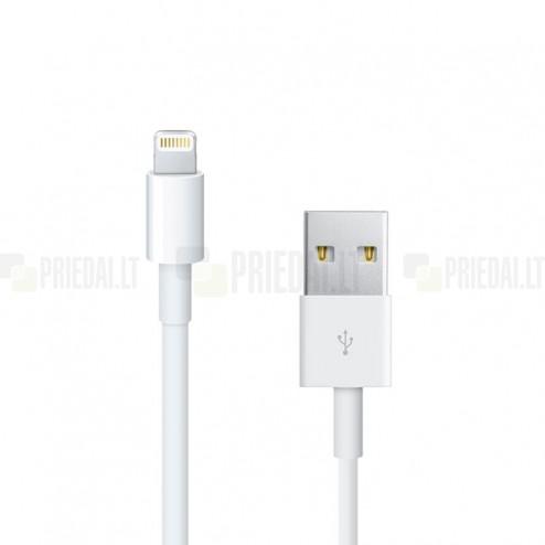 Bullet Lightning USB balts vads piemērots iPhone 6, 6 Plus, 5, 5S, iPad Air, iPad mini, iPod (MFi sertifikāts)