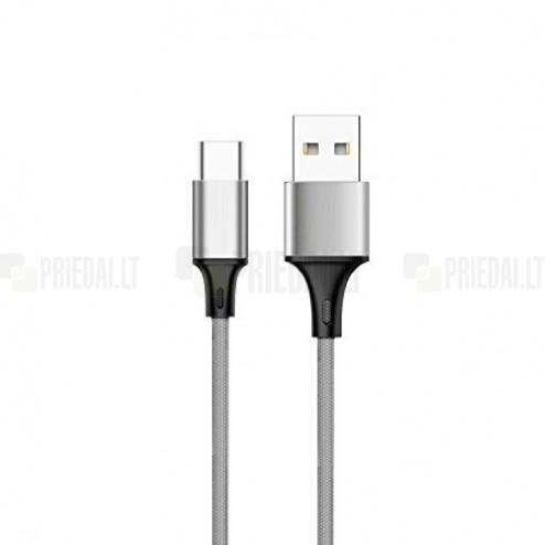 Bullet USB Typec-C pelēks vads 1 m