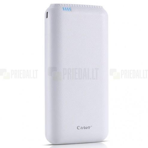 Cager B20000 rezerves ārējais pārnesājams litija jonu akumulators (20000 mAh), ang. Power bank - balta