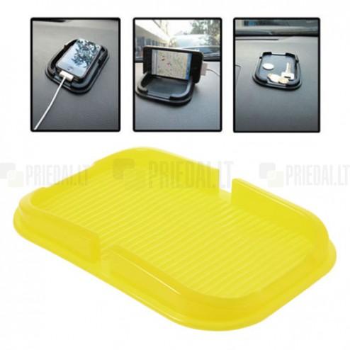 Dzeltens Anti-Slip Pad paklājiņš, autoturētājs (S lielums)