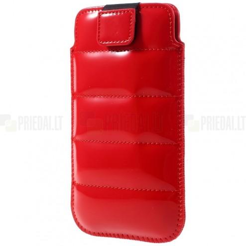 Universāla Glossy sarkana ādas telefona ieliktņa (XL+ izmērs)