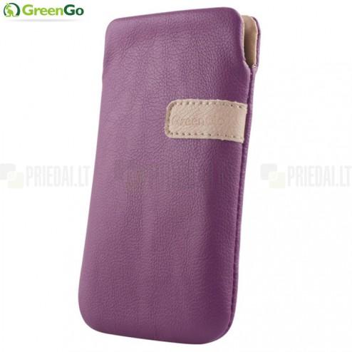"""""""GreenGo"""" Fiesta violets ādas maciņš (M izmērs)"""