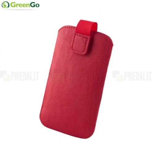 """""""GreenGo"""" Mono sarkana ādas ieliktņa - maciņš (M izmērs)"""