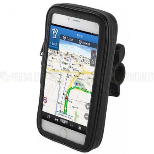 """""""Handlebar"""" melns universāls telefona futrālis velosipēdam (XL)"""