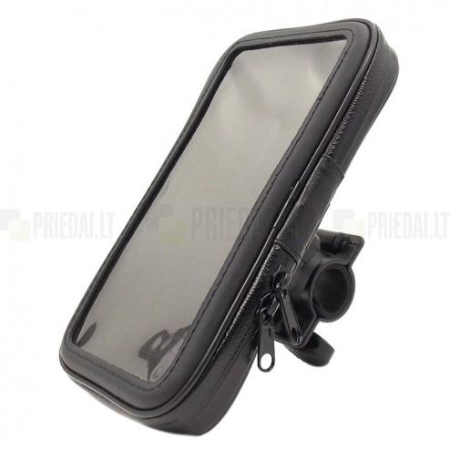 """""""Handlebar"""" melns universāls telefona futrālis velosipēdam (XXL)"""