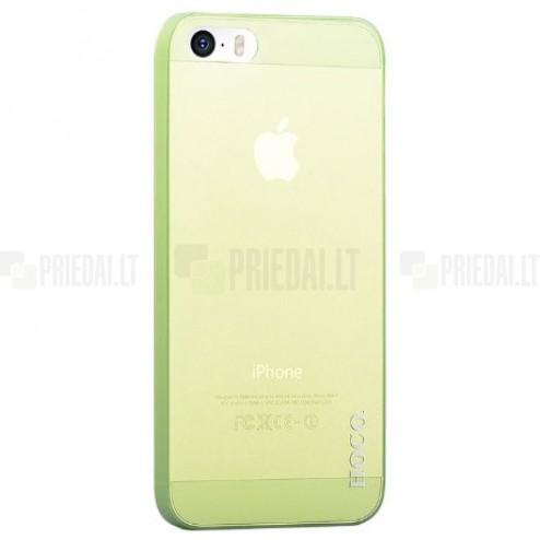 Hoco Thin Apple iPhone 5S zaļš dzidrs plastmāsas plāns futrālis