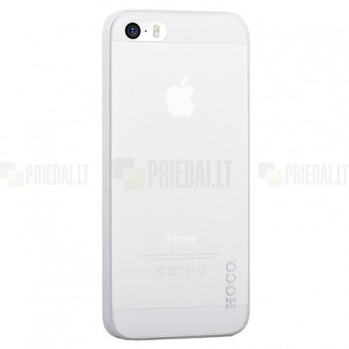 Hoco Thin Apple iPhone 5S balts dzidrs plastmāsas plāns futrālis
