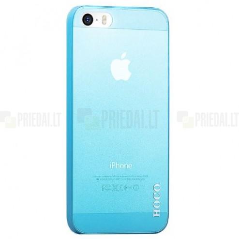 Hoco Thin Apple iPhone 5S zils dzidrs plastmāsas plāns futrālis