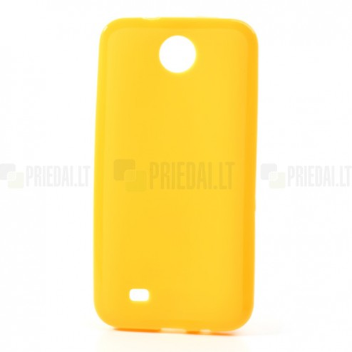 HTC Desire 300 Jelly Case dzeltens cieta silikona (TPU) futrālis