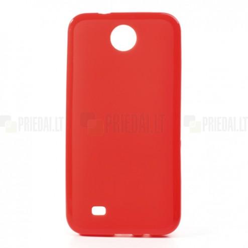 HTC Desire 300 Jelly Case sarkans cieta silikona (TPU) futrālis