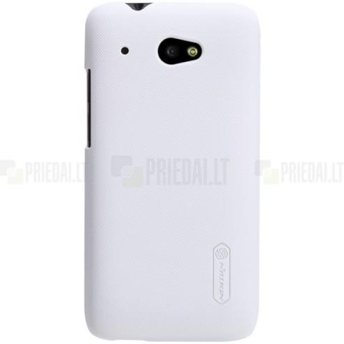 HTC Desire 601 Nillkin Frosted Shield balts plastmasas futrālis + ekrāna aizsargplēve