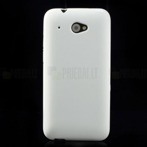 HTC Desire 601 Jelly Case balts cieta silikona (TPU) futrālis