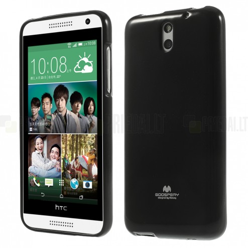 HTC Desire 610 Mercury melns cieta silikona (TPU) futrālis