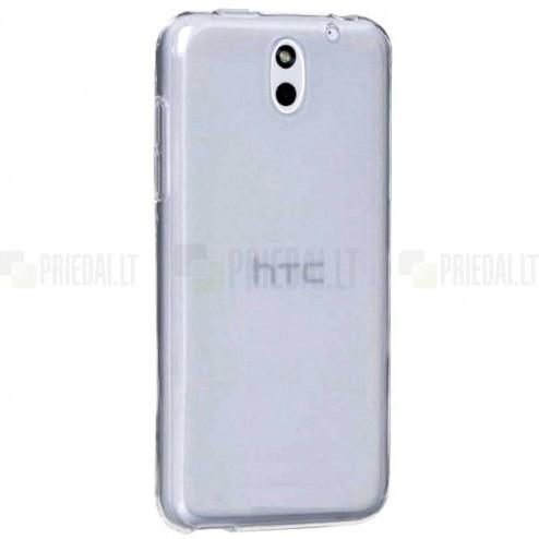 HTC Desire 610 cieta silikona TPU pasaulē planākais apvalks pelēks