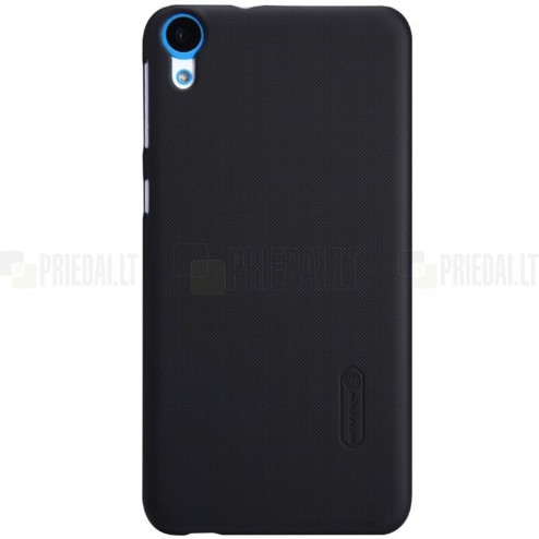 HTC Desire 820 Nillkin Frosted Shield melns plastmasas apvalks + ekrāna aizsargplēve