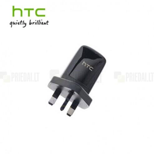 """Origināls """"HTC"""" melns tīkla lādētājs (B250, UK modelis)"""