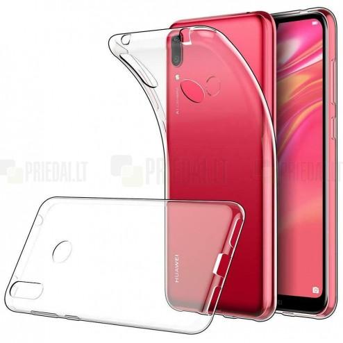 Huawei Y7 2019 (Y7 Prime 2019) dzidrs (caurspīdīgs) cieta silikona TPU pasaulē planākais apvalks