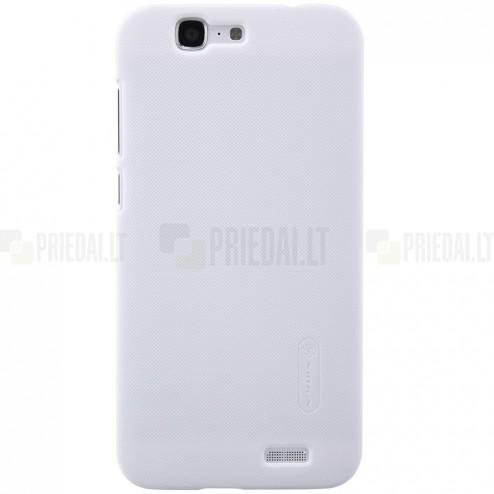 Huawei Ascend G7 Nillkin Frosted Shield balts plastmasas apvalks + ekrāna aizsargplēve