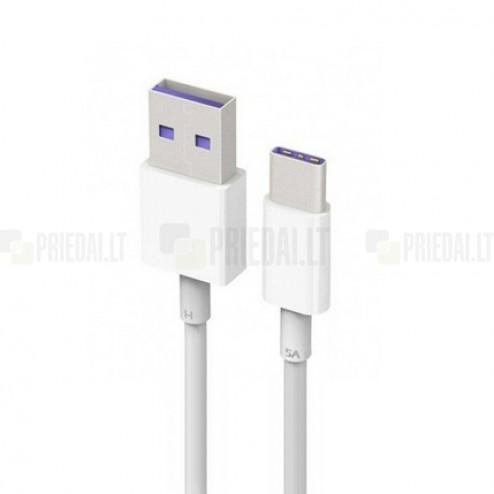Oficiāls Huawei USB Type-C balts vads 1 m. (AP71, origināls)