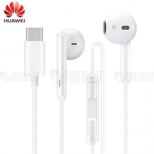 """""""Huawei"""" Classic Earphones originālie (CM33) ausīs ieliekamās baltā austiņas"""
