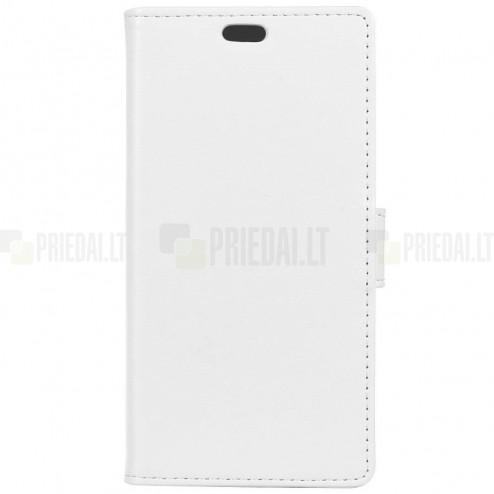 Huawei Honor 7C atvēramais ādas balts maciņš (maks)