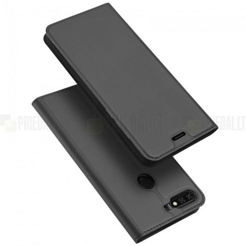 """Huawei Honor 7C """"Dux Ducis"""" Skin sērijas melns ādas atvērams maciņš"""