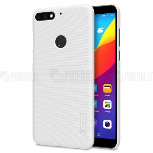 Huawei Honor 7C Nillkin Frosted Shield balts plastmasas apvalks + ekrāna aizsargplēve