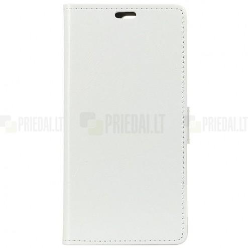 Huawei Mate 20 Pro atvēramais ādas balts maciņš (maks)