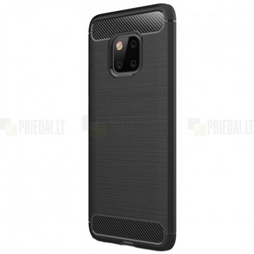 "Huawei Mate 20 Pro ""Carbon"" cieta silikona (TPU) melns apvalks"