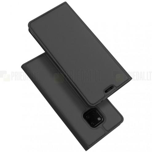 """Huawei Mate 20 Pro """"Dux Ducis"""" Skin sērijas melns ādas atvērams maciņš"""